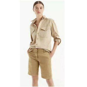 J. Crew Summer Weight Chino Shorts Size 10